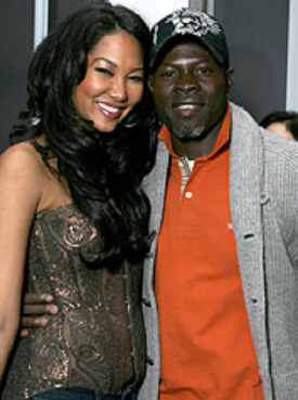 djimon hounsou and kimora - www.uptoparr.com