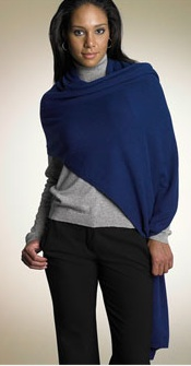 Cashmere Sweater Knit Wrap