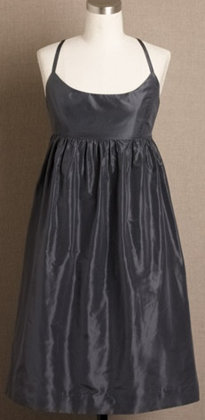 JCrew Charcoal Silk Taffeta Ballerina Dress