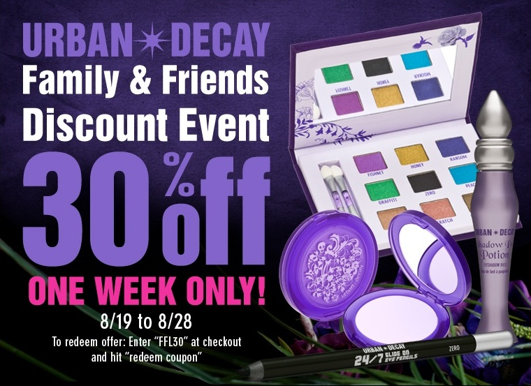 Urban Decay coupons can help you save on deviant makeup product names like Perversion, Vice3 and Grind House. You'll be even more thrilled when you see all the non-traditional colors of blushes, eyeshadows and lipsticks offered by the brand. Swap your reds and pinks for bold dark purples and blues with a hand from Urban Decay today.