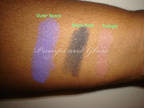 Arissa Baked Eye Shadows Outer Space, Black Hole, Twilight