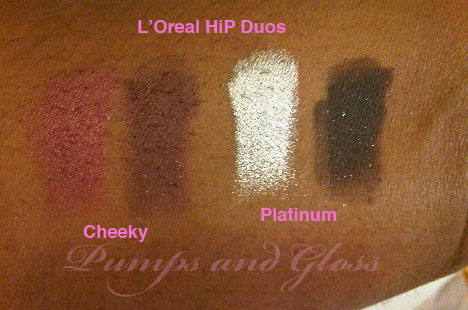 L'Oreal HiP Duo in Cheeky and Platinum