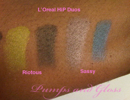 L'Oreal HiP Duo in Riotous and Sassy (no base)