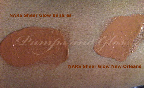 NARS Sheer Glow Benares and New Orleans