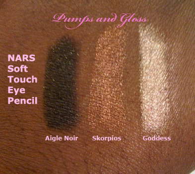 NARS Soft Touch Eye Pencil (Aigle Noir, Skorpios and Goddess)