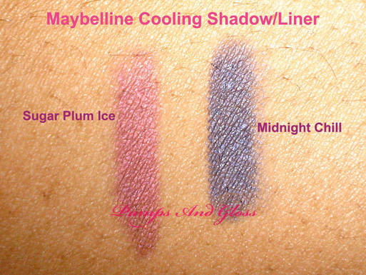 Maybelline Cooling Effect Shadow Liner Sugar Plum Ice and Midnight Chill