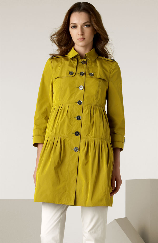 Burberry Technical Taffeta Jacket in Citrine