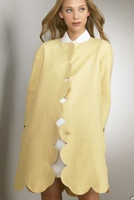 Chloe Scallop Edge Coat