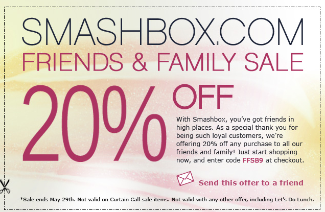 smashbox coupon code uk