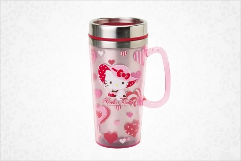 Hello Kitty Stainless Steel Mug - Heart