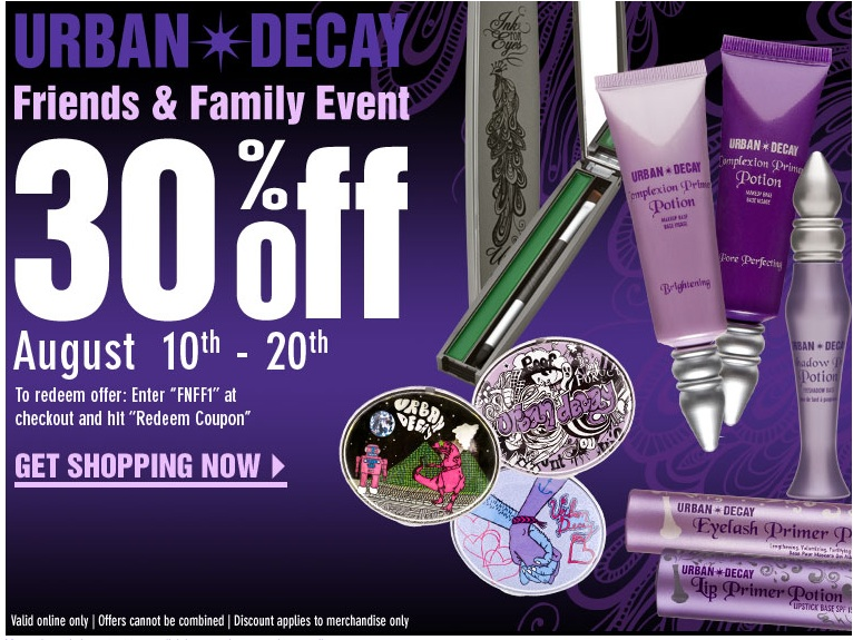Urban decay coupons discounts