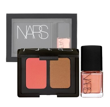 NARS Laguna Blush Bronzer Duo and Orgasm Nail Polish Set