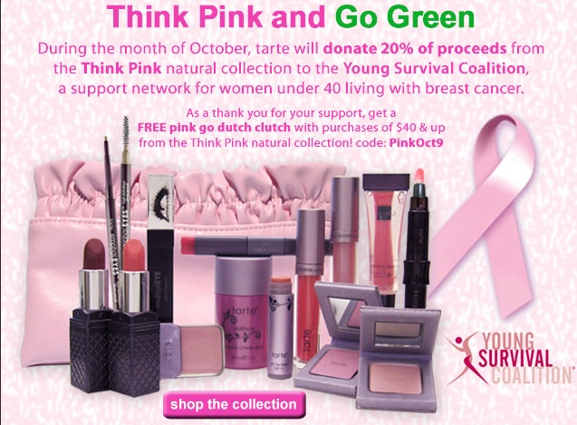 Tarte Think Pink and Go Green