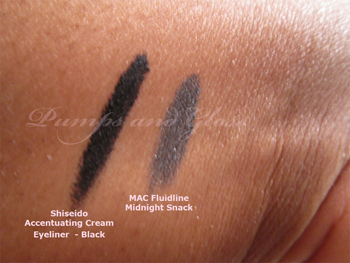 Shiseido_Creamy_Liner_Black_MAC_Fluidline_Midnight_Snack_Swatch