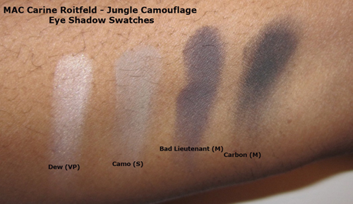 MAC Carine Roitfeld Jungle Camouflage Full Face Kit Swatches