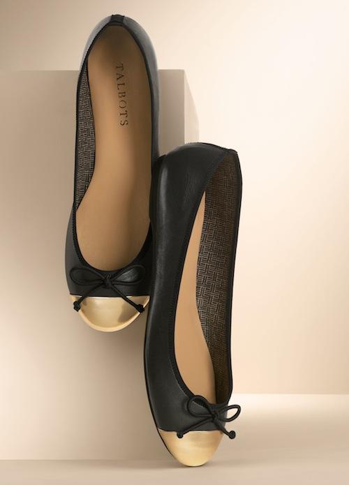 Talbots Jaden cap-toe ballet flat