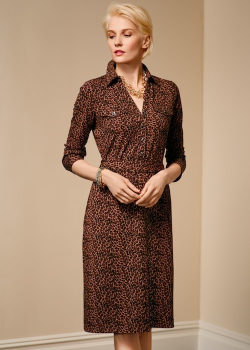 Talbots Leopard-print shirtdress