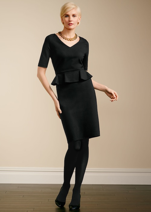 Talbots Ponte knit peplum sheath