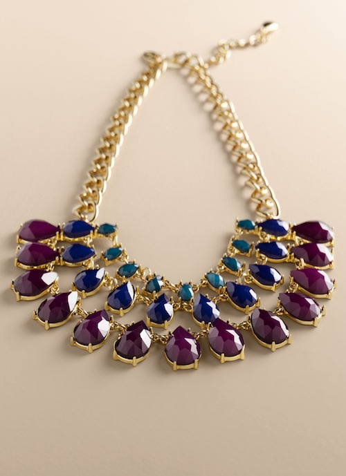 Talbots Teardrop bib necklace