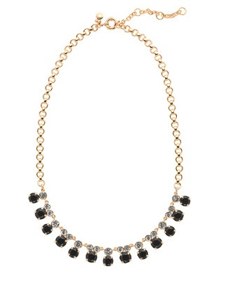J Crew Black Diamond Necklace