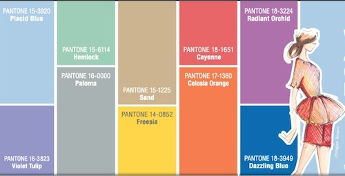 Pantone Women's Spring Fashion Color Report 2014