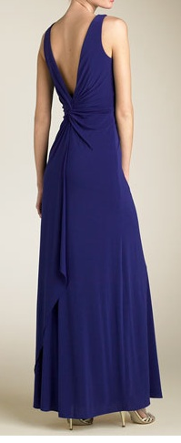 Laundry by Shelli Segal Twist Front Jersey Gown (Not Actual Dress) - Nordstrom