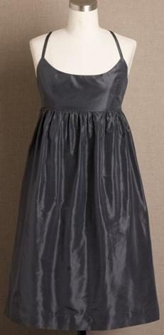 JCrew Charcoal Silk Taffeta Ballerina Dress