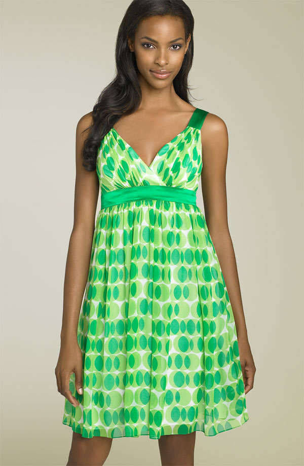 Maggy London Geometric Print Babydoll Dress - Nordstrom.com