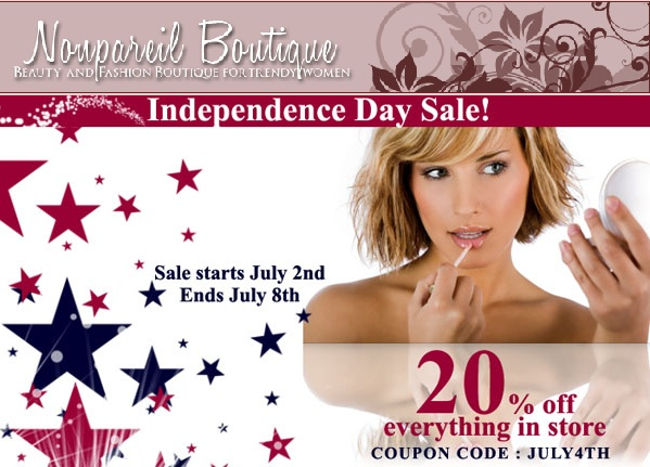 Nonpareil Boutique Independence Sale