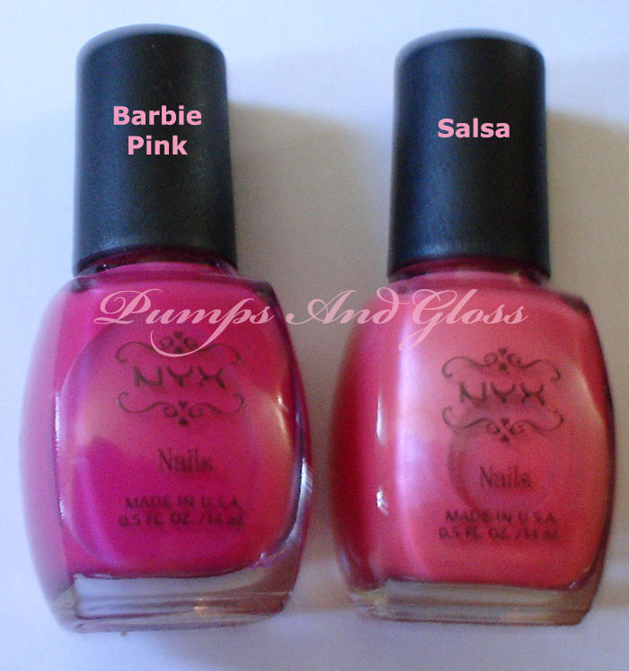 NYX Barbie Pink and Salsa