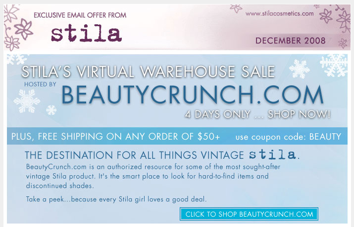 Free Shipping for Orders $50 and over - code is BEAUTY