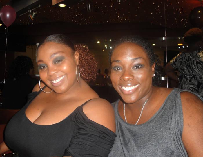 Keka R. (L) and guest Danielle W.