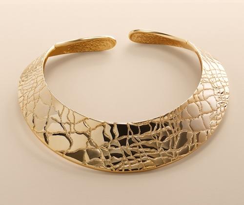 Talbots Croc collar necklace