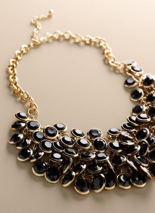 Talbots Disc bib necklace
