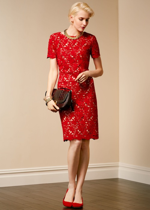 Talbots Floral lace dress