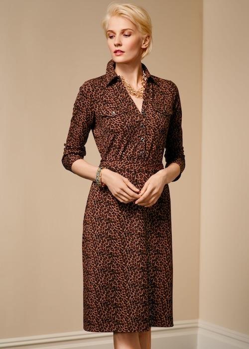 Talbots Leopard-print shirtdress