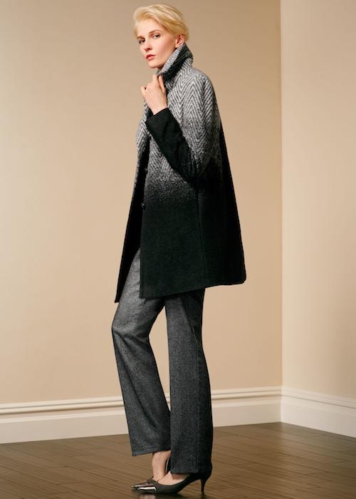 Talbots Ombré herringbone coat