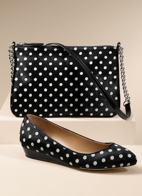 Talbots  Quilted bag and Mila haircalf demi-wedge