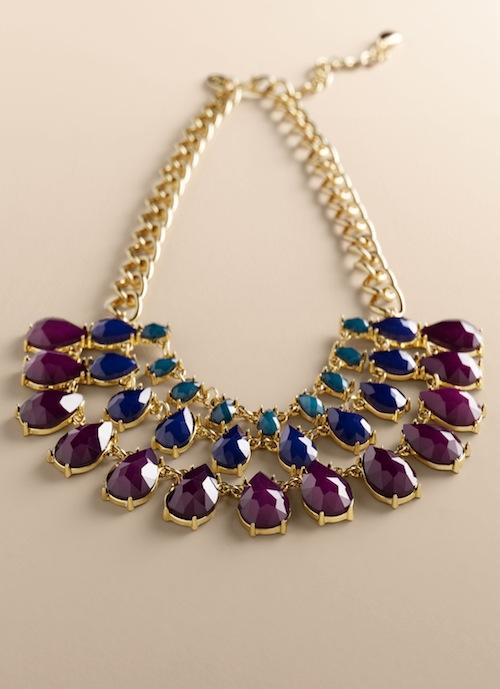 Talbots Teardrop bib necklace