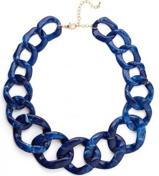 BaubleBar Sapphire Chunky Chain Collar