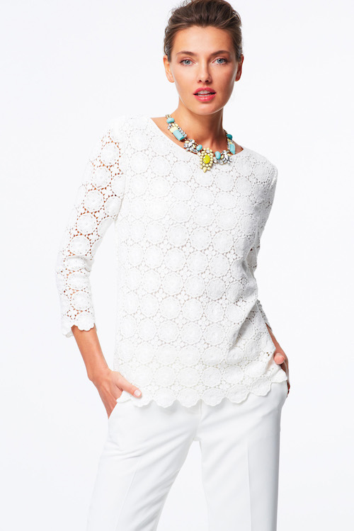 Talbots Medallion-lace top